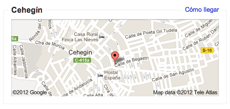 Mapa de cehegín