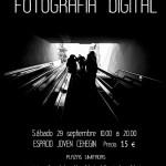 Cartel taller iniciación fotografía digital