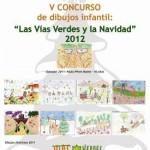 Cartel concurso dibujo vías verdes