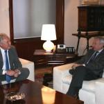 Valcárcel recibe al alcalde de Cehegín