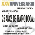 Cartel teatro grupos locales