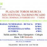 La Junta Local de la AECC venderá entradas para el festejo benéfico de Murcia