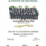 Betania organiza un concierto benéfico