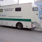 La unidad móvil de prevención del cáncer en Cehegín