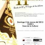 La Banda de Cornetas y Tambores 'Virgen de los Dolores' celebra el II Concierto Presentación