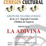 La Casa de la Cultura acoge este viernes la obra de teatro 'La adivina'
