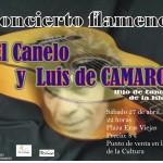 El recital flamenco de 'Luis de Camarón' y 'El Canelo' se celebrará en los Soportales de la Plaza del Castillo