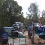 Cazadores de Cehegín y Bullas recogen gran cantidad de residuos en el Coto de Las Maravillas