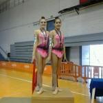 Las gimnastas cehegineras Ana María Morales y Miriam Sánchez campeonas regionales de Gimnasia Rítmica