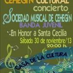 Cartel Concierto Santa Cecilia