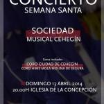 CARTEL CONCIERTO SEMANA SANTA SOCIEDAD MUSICAL Y CORO CIUDAD DE CEHEGÍN