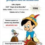 Cartel Escuela Pequeños Artesanos Vertical 1