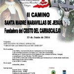 Cartel camino Santa Maravillas de Jesús
