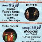Actividades verano 12 y 13 de julio