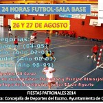 Cartel 24 horas fútbol sala base
