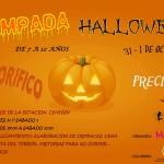 Cartel Acampada Halloween