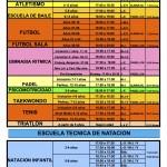 ESCUELAS DEPORTIVAS  15-16