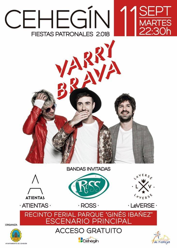 El indie pop de Varry Brava llega a Cehegín el 11 de septiembre